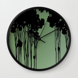 Forest Silhouette by Seasons K Designs Wall Clock