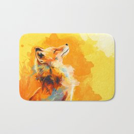Blissful Light - Fox portrait Bath Mat