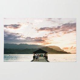 Hanalei Beach Pier Rug