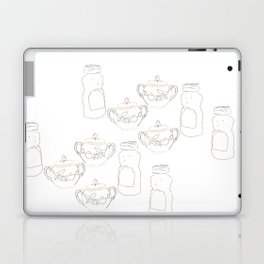 Honey bear and sugar bowl Laptop & iPad Skin