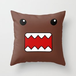 Domo Kun - Brown Japanese Monster Throw Pillow
