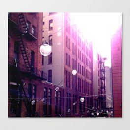 Buildings and Lamps Canvas Print