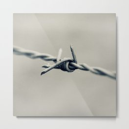 Barbed Wire Detail Metal Print