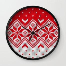 Winter knitted pattern 10 Wall Clock