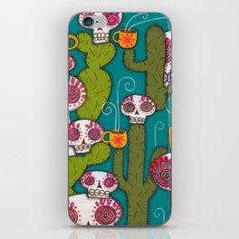 Skulls, Cacti and Atomic Coffee iPhone Skin
