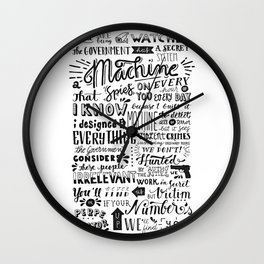 The Machine | Person of Interest Wall Clock
