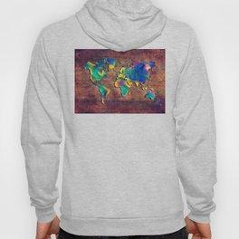 World map watercolor 2 Hoody