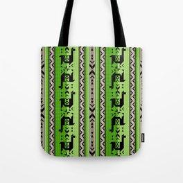 Llamas_Green and WarmGray Tote Bag