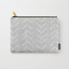 Mudcloth Big Arrows in Grey Carry-All Pouch