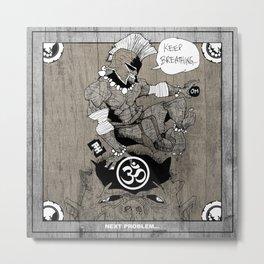Spartan Buddha Yoga Metal Print