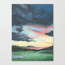 Sunset over Yellowstone Canvas Print