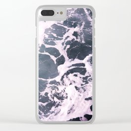 Marbled Waves Clear iPhone Case
