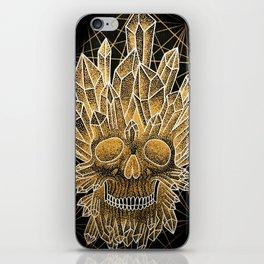 crystal skull iPhone Skin