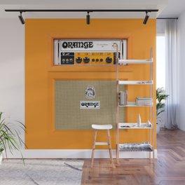 Bright Orange color amplifier amp Wall Mural