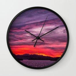 Lake Havasu Sunrise Wall Clock