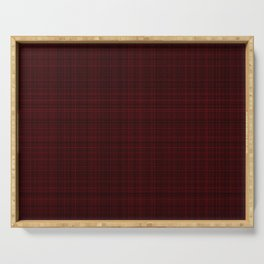 Lines in black and red wool Serving Tray