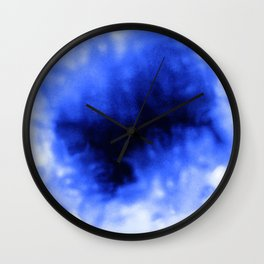 Blue Snow Wall Clock