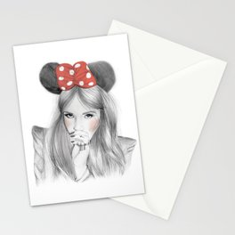 Minnie Colour  Stationery Cards