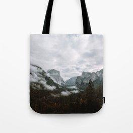 Moody Yosemite Tunnel View Tote Bag