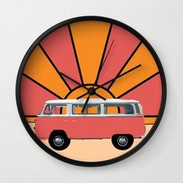 Go Your Own Way Van Wall Clock