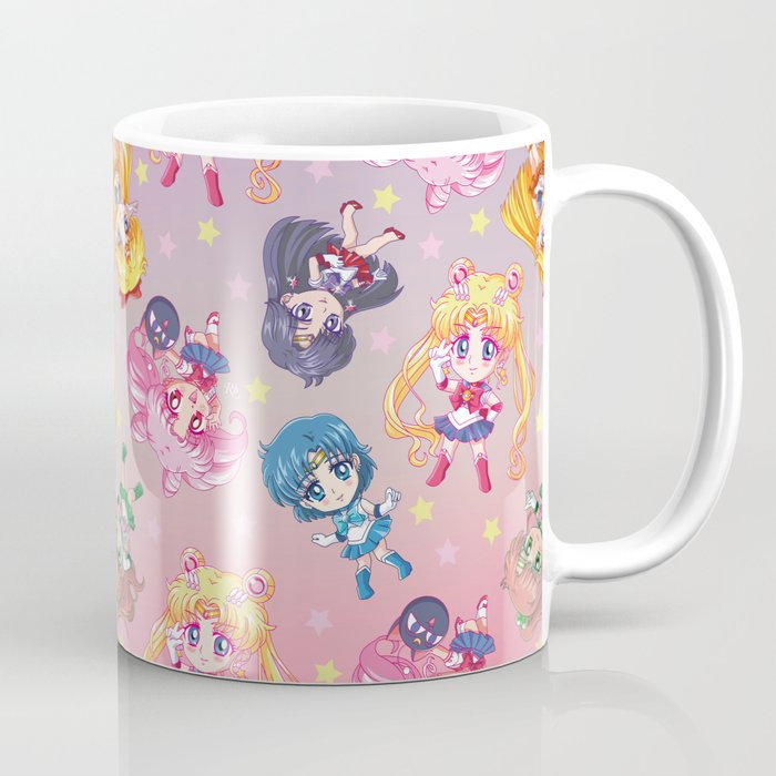 Chibis Crystal Pattern Coffee Mug