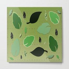 Olivine Leaves Metal Print
