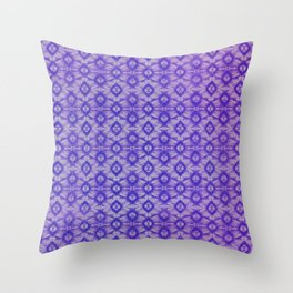 blue tie dye in small repeat Throw Pillow