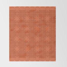 Op Art 18 - Coral Throw Blanket
