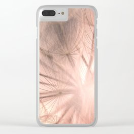 Pink Dandelion Macro Nature Photography Art and Apparel Clear iPhone Case