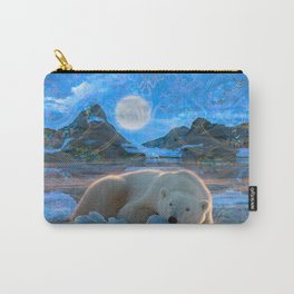 Just Chilling and Dreaming (Polar Bear) Carry-All Pouch