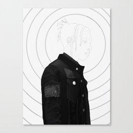 A$AP R Grayscale Canvas Print