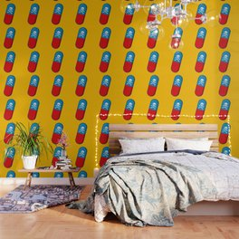 Deadly but Colorful. Pills Pattern Wallpaper