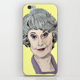 Dorothy Zbornak from The Golden Girls (Yellow) iPhone Skin