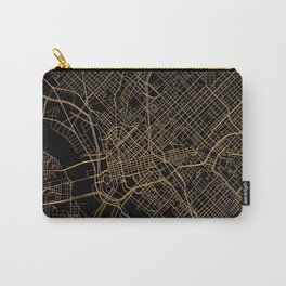 Black and gold Dallas map Carry-All Pouch