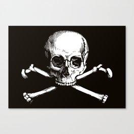 Skull and Crossbones | Jolly Roger Canvas Print