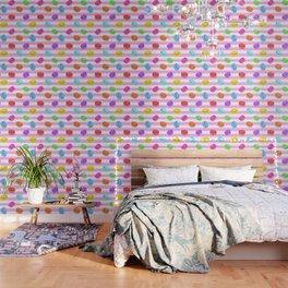 Happy macaron pattern Wallpaper