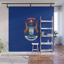 flag michigan,america,usa,great lakes,detroit,Michigander,yooper,Lansing,winter wonderland,Wolverine Wall Mural