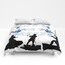 Life's A Breeze For Kitesurfers Comforters