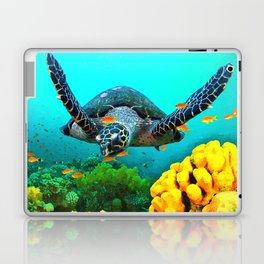 Turtle in Water Laptop & iPad Skin