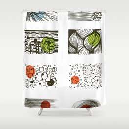 four seasons 2018 calendar Shower Curtain