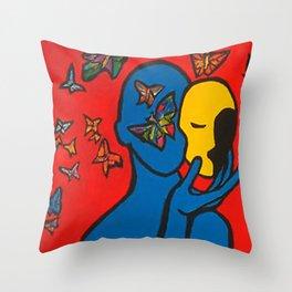 SKIN DEEP  (ORIGINAL SOLD)  #Society6  #decor  #buyart Throw Pillow