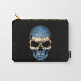 Dark Skull with Flag of El Salvador Carry-All Pouch