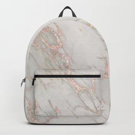 Marble Rose Gold Blush Pink Metallic by Nature Magick Backpack
