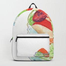 Refreshing Jar with Twisty Straw Backpack