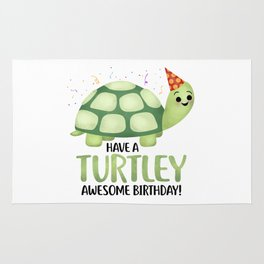 Have A Turtley Awesome Birthday - Turtle Rug
