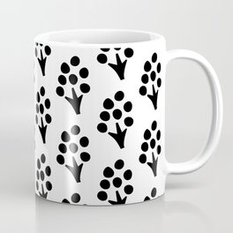 Abstract Scandinavian Florals on White Background Coffee Mug