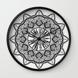 Karma is Only a B**ch if You Are - Be Nice, D***it - Mandala in Black & White Wall Clock