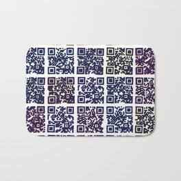 QR Codes to Playlists Bath Mat
