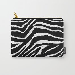 Animal Print Zebra Black and White Carry-All Pouch