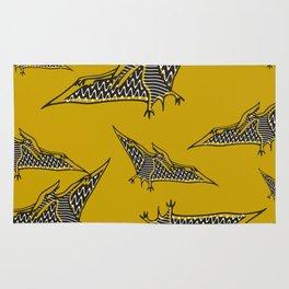 Pterosauria mustard Rug